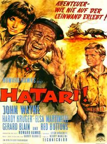 Hatari Filmplakat mit Hardy Krüger
